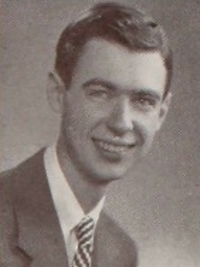 Fred Rogers 1946 senior yearbook portrait
