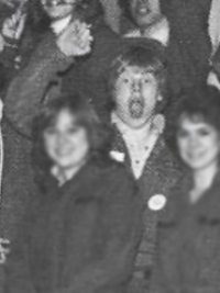 Philip Seymour Hoffman 1983 drama club yearbook photo - cropped