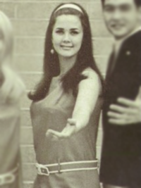 Lynda Carter 1968 chorale yearbook photo