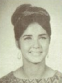 Lynda Carter 1968 junior yearbook portrait