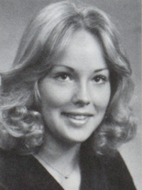 Sharon Stone 1975 senior yearbook portrait