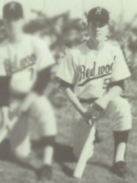 Pete Carroll 1968 baseball team outfielders photo (cropped)