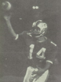 Pete Carroll 1968 football team action shot