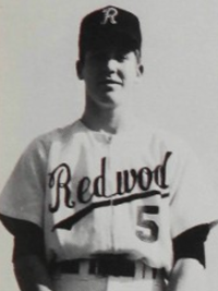 Pete Carroll 1969 senior baseball team portrait