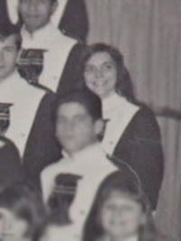 Karen Carpenter 1967 high school band (cropped)