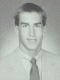 Rob Riggle 1988 senior yearbook portrait