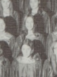 Laurie Metcalf 1972 A Cappella choir yearbook photo (cropped)