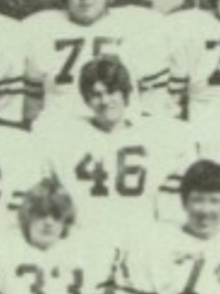 Billy Ray Cyrus 1978 varsity football yearbook photo (cropped) (Classmates.com)