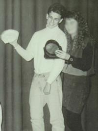 Seth Meyers 1992 superlatives yearbook photo - Best Sense of Humor and Best-Looking (Classmates.com)