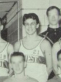 Seth Meyers 1992 winter track team yearbook photo (Classmates.com)